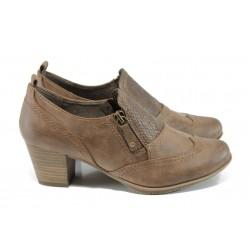 Дамски обувки на ток Jana 8-24465-29Н кафяв | Немски обувки на среден ток | MES.BG