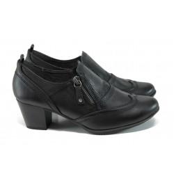 Дамски обувки на ток Jana 8-24465-29Н черен | Немски обувки на среден ток | MES.BG