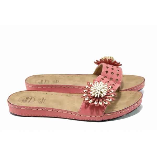 Анатомични дамски чехли Jump 6828 розов | Равни дамски чехли | MES.BG