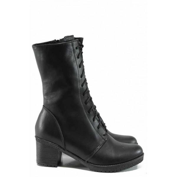 Дамски боти от естествена кожа НЛ 304-1611 черен | Дамски боти и ботуши | MES.BG