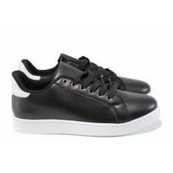 Дамски спортни обувки Bulldozer 72303 черен | Равни дамски обувки | MES.BG