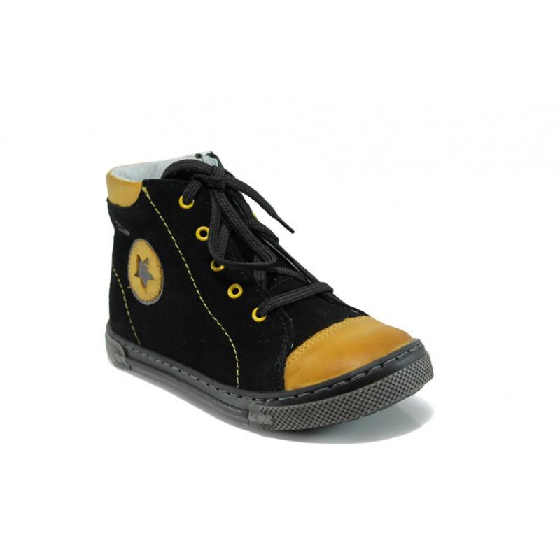 Анатомични детски кецове от естествен набук МА 23-3236 черен 26/30 | Детски обувки | MES.BG