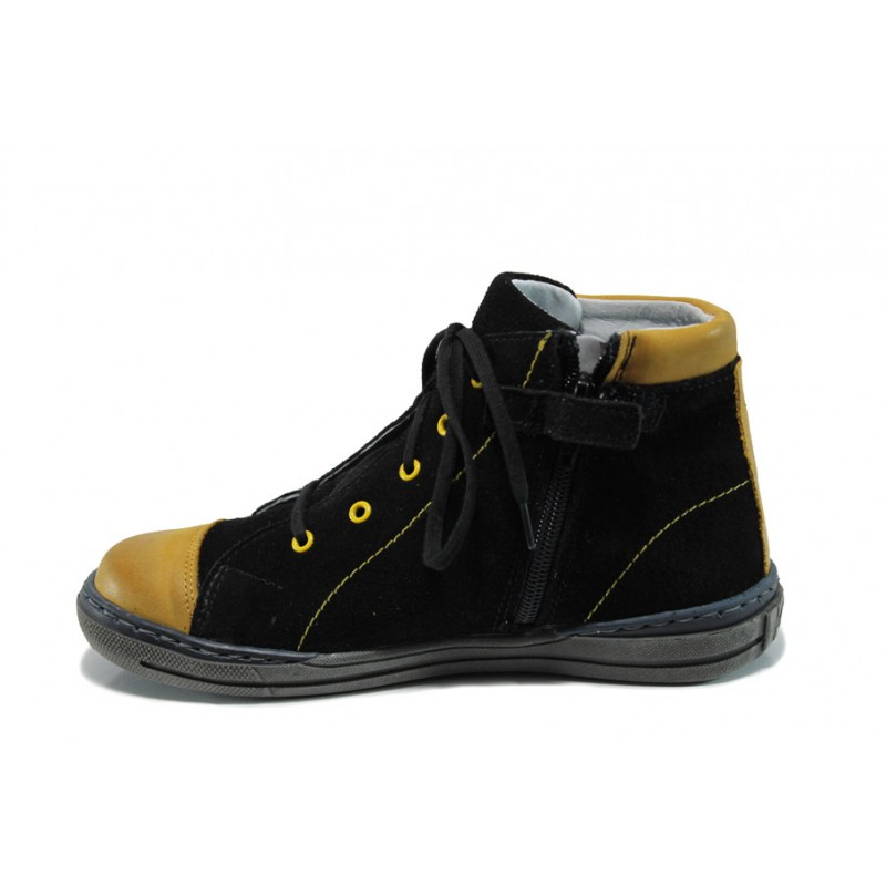 Ортопедични детски кецове от естествен набук МА 33-4291 черен 31/36   Детски обувки   MES.BG