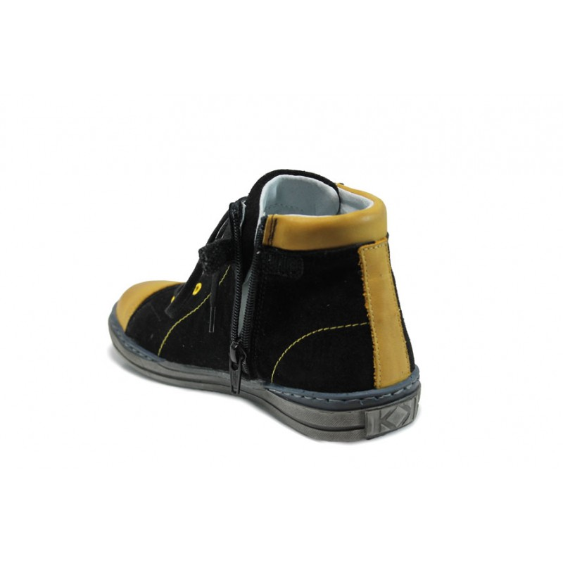 Ортопедични детски кецове от естествен набук МА 33-4291 черен 31/36 | Детски обувки | MES.BG