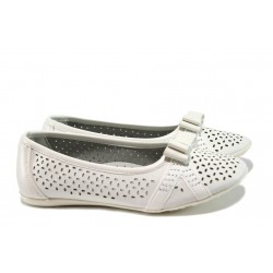 Анатомични детски обувки с перфорация КА Н857 бял 31/36 | Детски обувки | MES.BG