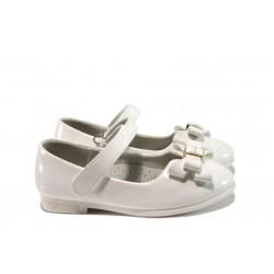 Анатомични лачени детски обувки КА M03 бял 26/30 | Детски обувки | MES.BG