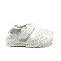 Анатомични детски обувки с лепенки КА А166 бял 26/31 | Детски обувки | MES.BG