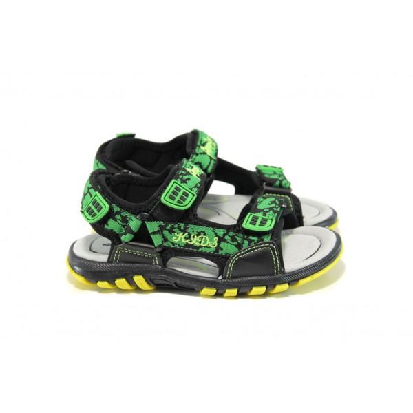 Анатомични детски сандали АБ 131926 черен-зелен 26/31 | Детски сандали | MES.BG