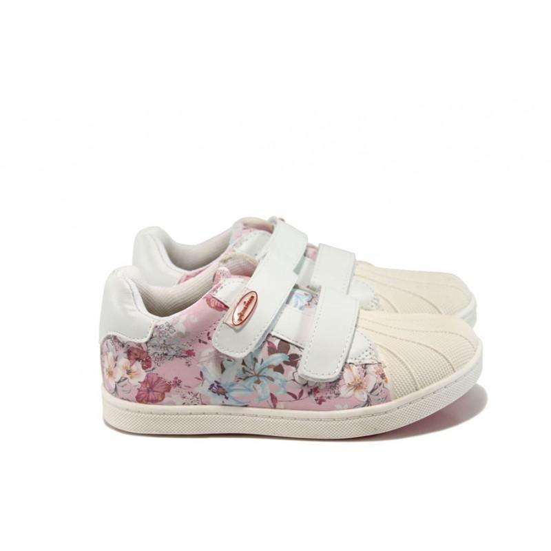 90376e5c8ee Анатомични детски обувки АБ 16658 бял-розов 26/30 | Детски обувки | MES.BG