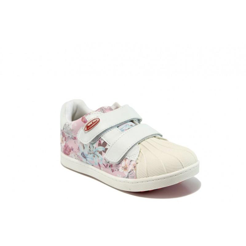 Анатомични детски обувки със стелки от естествена кожа АБ 16658 бял-розов 26/30   Детски обувки   MES.BG