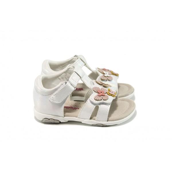Анатомични бебешки сандали АБ 16049 бял 21/25 | Бебешки чехли и сандали | MES.BG