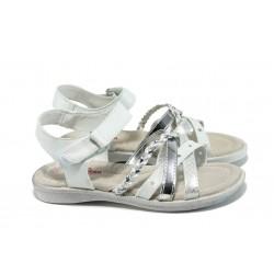 Анатомични детски сандали АБ 16812 бял-сребро 26/30 | Детски чехли и сандали | MES.BG