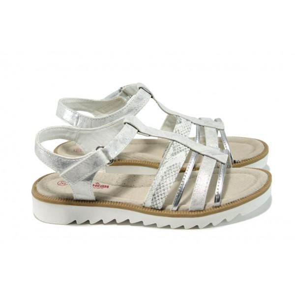 Анатомични детски сандали АБ 16903 сребро 31/35 | Детски чехли и сандали | MES.BG