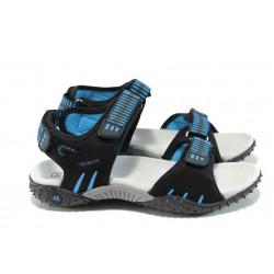 Анатомични детски сандали с лепенка АБ 1616 черен-син 31/36 | Детски чехли и сандали | MES.BG