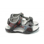 Анатомични детски сандали с лепенка АБ 1614 черен 26/30 | Детски чехли и сандали | MES.BG