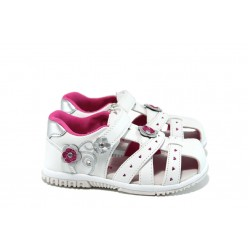 Анатомични детски сандали АБ 86951 бял 20/25 | Детски чехли и сандали | MES.BG