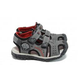 Анатомични детски сандали АБ 93319 сив 26/30 | Детски чехли и сандали | MES.BG