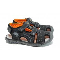 Анатомични детски сандали АБ 93319 черен 31/35 | Детски чехли и сандали | MES.BG