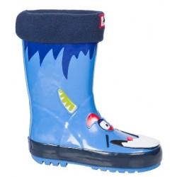 Детски гумени ботуши с топъл свалящ се чорап АБ KAL-12 син куче 22/26 | Гумени ботуши |MES.BG