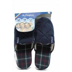 Анатомични мъжки чехли с мемори пяна ДФ MLIANO M200 син | Домашни чехли | MES.BG
