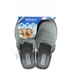 Анатомични мъжки чехли с мемори пяна ДФ BARI TOP M206 сив | Домашни чехли | MES.BG