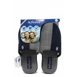 Анатомични дамски чехли с мемори пяна ДФ ROMA TOP W210 сив | Домашни чехли | MES.BG