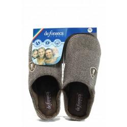 Анатомични мъжки чехли с мемори пяна ДФ FIRENZE M203 кафяв | Домашни чехли | MES.BG