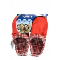 Анатомични дамски чехли с мемори пяна ДФ FIRENZE W209 червен | Домашни чехли | MES.BG