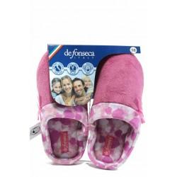 Анатомични дамски чехли с мемори пяна ДФ FIRENZE W207 розов | Домашни чехли | MES.BG