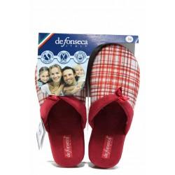 Анатомични дамски чехли ДФ VERONA W212 червен | Домашни чехли | MES.BG
