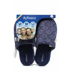 Анатомични дамски чехли с мемори пяна ДФ ROMA TOP W231 син | Домашни чехли | MES.BG