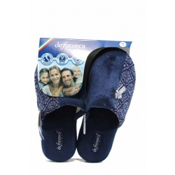 Анатомични дамски чехли с мемори пяна ДФ ROMA TOP W229 син | Домашни чехли | MES.BG
