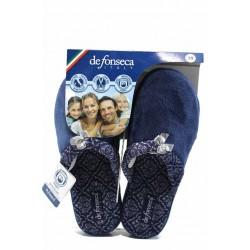 Анатомични дамски чехли ДФ VERONA W223 син | Домашни чехли | MES.BG