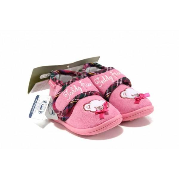 Анатомични домашни пантофи с лепенки Defonseca PESCARA G200 розов 19/30   Домашни чехли и пантофи   MES.BG