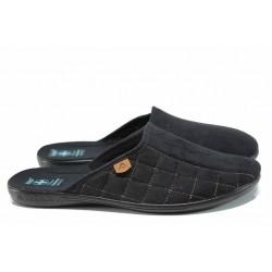Анатомични мъжки чехли с Bio ходило МА 21124 черен | Домашни чехли | MES.BG