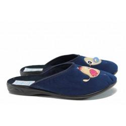 Анатомични дамски чехли с Bio ходило МА 22287 син | Домашни чехли | MES.BG