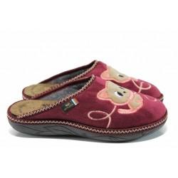 Анатомични дамски домашни чехли Spesita 17-139 бордо | Домашни чехли | MES.BG