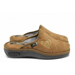 Анатомични дамски домашни чехли Spesita 17-161 камел | Домашни чехли | MES.BG