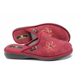 Анатомични дамски домашни чехли Spesita 17-124 бордо | Домашни чехли | MES.BG