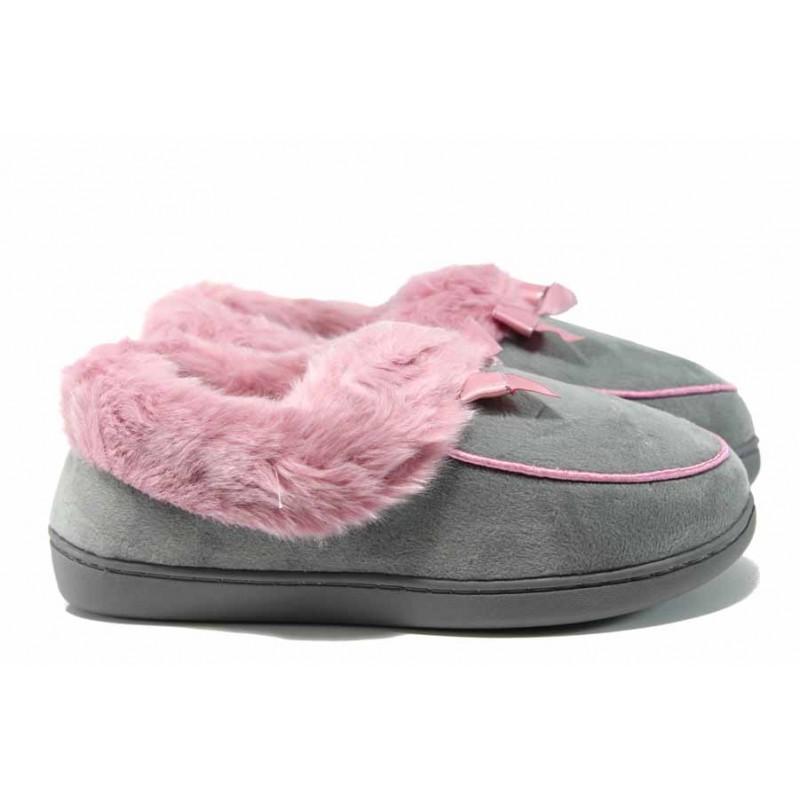 Анатомични дамски домашни пантофи РС 160523 розов | Домашни чехли | MES.BG