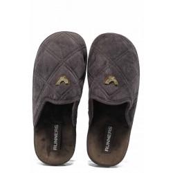 Анатомични мъжки домашни чехли Runners 150285 кафяв | Домашни чехли | MES.BG