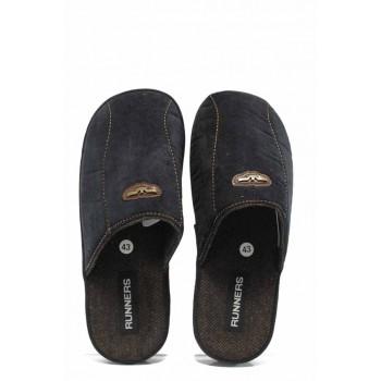Анатомични мъжки домашни чехли РС 1601336 черен | Домашни чехли | MES.BG