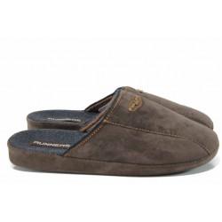 Анатомични мъжки домашни чехли Runners 1601336 кафяв | Домашни чехли | MES.BG