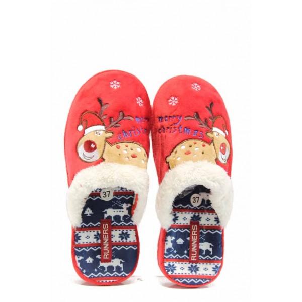 Анатомични дамски домашни чехли Runners 130216 червен | Домашни чехли | MES.BG