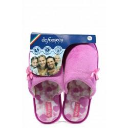 Анатомични дамски чехли ДФ BARI TOP W204 розов | Домашни чехли | MES.BG
