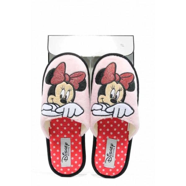 Анатомични дамски чехли ДФ BARI W270 розов Disney | Домашни чехли | MES.BG