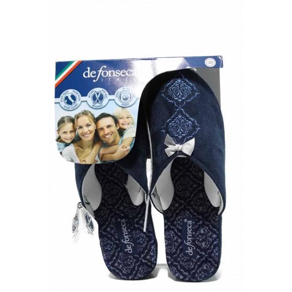 Анатомични дамски чехли Defonseca PALERMO W203 син | Домашни чехли | MES.BG