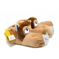 Анатомични мъжки пантофи ДФ TEVERE M232 бежов лъв | Домашни чехли | MES.BG