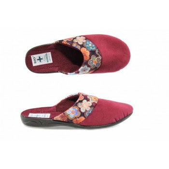 Анатомични дамски чехли с Bio ходило МА 22276 сив цветя | Домашни чехли | MES.BG