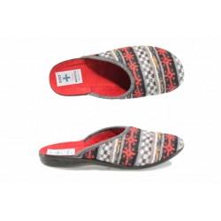 Анатомични дамски чехли с Bio ходило МА 20789 червен | Домашни чехли | MES.BG